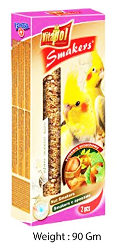 Vitapol Smaker Treat Stick for COCKATIEL, 2 Pack (Nuts)