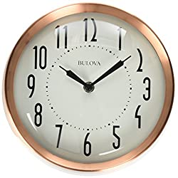 Bulova Cleaver Wall Clock, Copper
