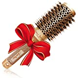 Brazilian Blow Dry Round Hair Brush with Natural Boar Bristles...