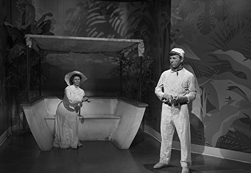 Vintography 8 x 12 Black White Photo Likenesses Katherine Hepburn Humphrey Bogart, in Character in Their Roles in The Movie The African Queen, at Madame Tussaud's Wax Museum in 2013 Highsmith 78a