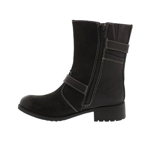 Earth Spirit DAYTON Ladies Nubuck Leather Heeled Ankle Boots Black:  Amazon.co.uk: Shoes & Bags