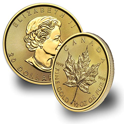 1979 CA - Present 1/2oz Gold Maple Leaf $20 Brilliant Uncirculated Random Year (1 Oz Canadian Gold Maple Leaf Price)