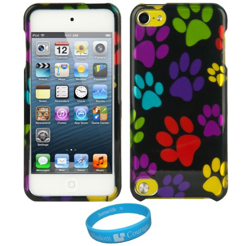 - SumacLife Faceplate Cover (Dog Paw) for Apple iPod Touch 5 + SumacLife TM Wisdom Courage Wristband