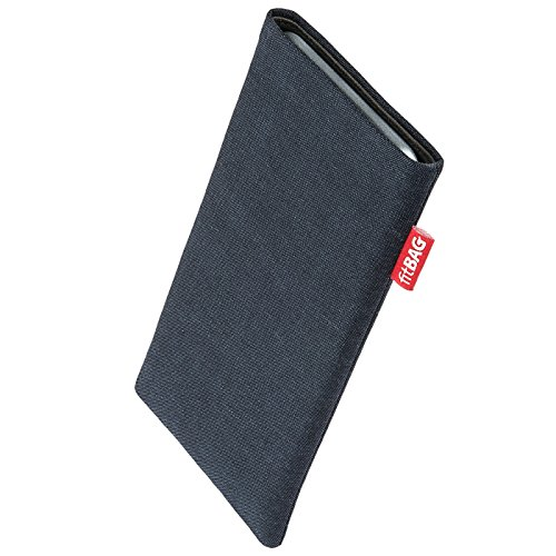 fitBAG Jive Blue custom tailored sleeve for Nokia 6101. Fine suit fabric pouch with integrated MicroFibre lining for display cleaning