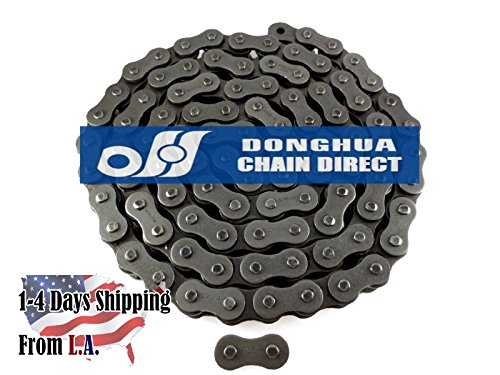 120H Heavy Duty Roller Chain 10 Feet with 1 Connecting Link by Donghua Chain