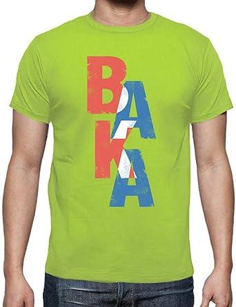 latostadora - Camiseta Baka Palabra Japonesa para Hombre Pistacho S: Amazon.es: Ropa y accesorios