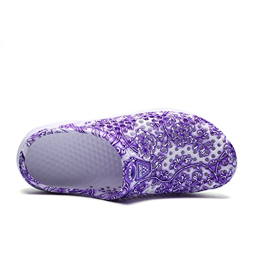 Beach Garden PHILDA Sandals Slip Clog Lightweight Anti Drying flower Slippers Mesh Footwear Women's Quick Purple Shoes Breathable gpxT8gq