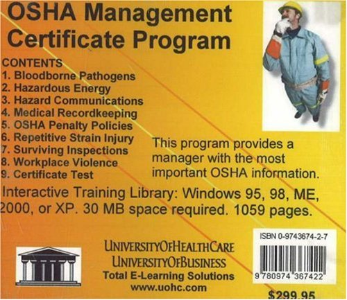 Osha Management Certificate Program by Brand: UniversityOfHealthCare