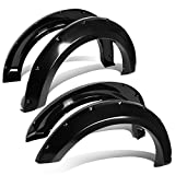 07 ford f150 fender flares - 4pcs Wheel Fender Flares Smooth Black Paintable Pocket Bolt-Riveted Style for 04-08 Ford F150 Styleside Model only | 07-08 Lincoln Mark LT Style-side