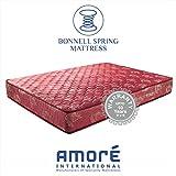 AMORE INTERNATIONAL Bonnell Spring Mattress (Medium Firm)(Maroon,75 X 30 X 6 Inch)