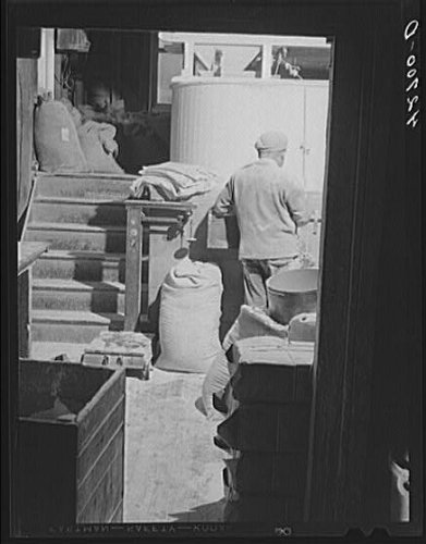 HistoricalFindings Photo: Kenyon's Johnnycake Flour Mill,Washington County,Usquepaugh,Rhode Island,RI,2
