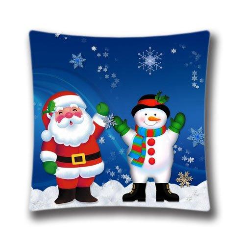 Cute Halloween Screensaver (18x18 Inch Xmas Stuff For Hd Christmas Screensaver Square Throw Pillow Case Decorative Cushion Cover Pillowcase Cushion Case for Sofa/Bed/Chair/Auto Seat)