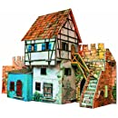 Clever Paper House Near The Wall Building Kit with Figures