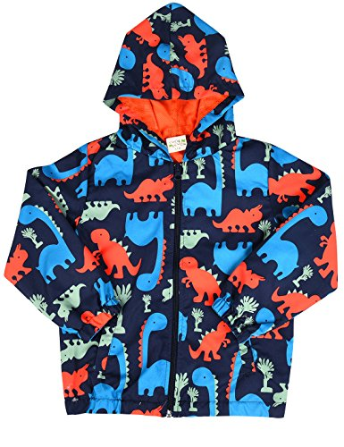 SORREL Toddler Kids Long Sleeves Dinosaur Zip-Up Hoodie Casual Jacket Coat Boys Windbreaker Size 2-8 Years (Size Boys 7 Jackets For)