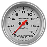 Auto Meter 4444 Ultra-Lite 2-5/8'' Electric Pyrometer (0-1600 Degree F, 66.7mm)