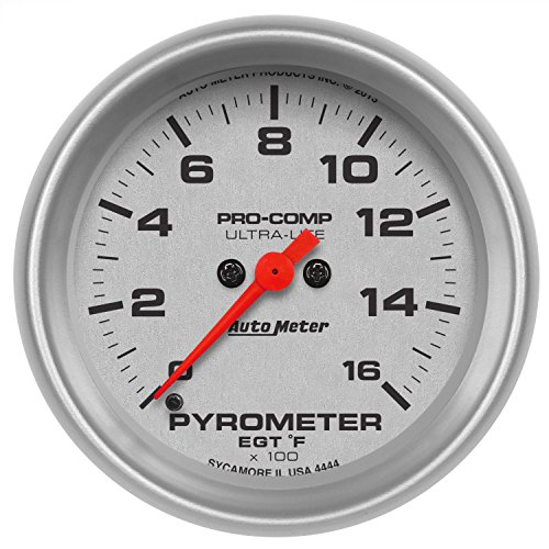 Auto Meter 4444 Ultra-Lite 2-5/8'' Electric Pyrometer (0-1600 Degree F, 66.7mm) by Auto Meter (Image #1)