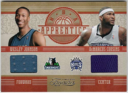 DeMarcus Cousins Wesley Johnson 2010-11 Panini Timeless Treasures NBA Apprentices Dual Rookie Jersey Card Serial # 54/99