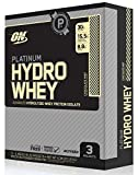 Optimum Nutrition Platinum Hydrowhey Protein Powder Travel Size, 100% Hydrolyzed Whey Protein Powder, Flavor: Chocolate Mint, 3 Count