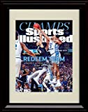 Framed UNC Tar Heels 2017 National Champs! Sports Illustrated Autograph Replica Print - Meeks Block!
