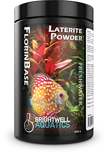 Brightwell Aquatics FlorinBase Laterite Powder, Natural Laterite Clay Substrate for Planted and Freshwater Shrimp biotope Aquaria, 600 Grams ()