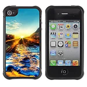 """Hypernova Defender Series TPU protection Cas Case Coque pour Apple iPhone 4 / iPhone 4S [Sunset Beautiful Nature 67""""]"""
