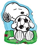 Snoopy w/ Soccer Ball Shaped Mylar Balloon 28""