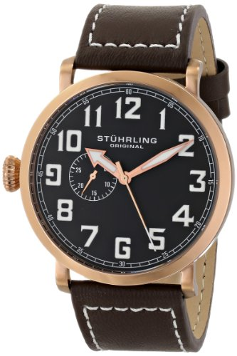 - Stuhrling Original Men's 721.02 Octane Monterey L Analog Display Quartz Brown Watch