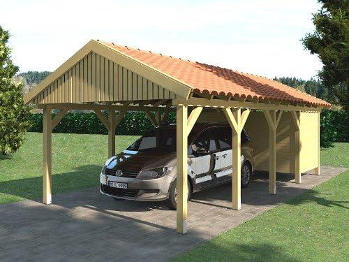 CarPort tejado zandvo lugar 350 x 800 cm + Dispositivo habitación tejado CarPort: Amazon.es: Coche y moto