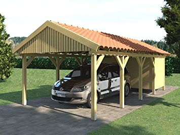 Carport Satteldach ZANDVOORT 350x800cm + Geräteraum ...