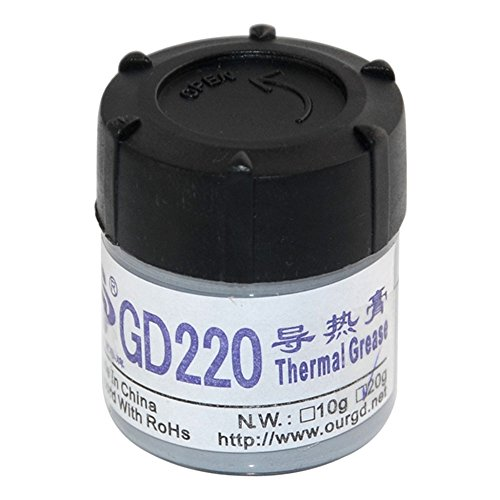 20g Gray Thermal Grease CPU Heat Sink Compound Silicone Paste Bottle NO. GD220 (Ceramique High Density Thermal Compound)