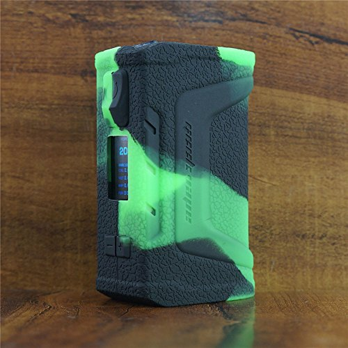 ModShield for GeekVape Aegis Legend 200W Silicone Case ByJojo Cover Shield Sleeve Wrap Skin (Green/Black) (Shield Skin Cover)