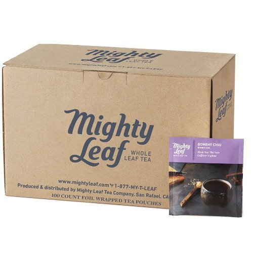 Mighty Leaf Bombay Chai Tea Pouches, 100 Tea Pouches by Mighty Leaf