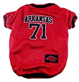 NCAA Dog Jersey, Medium, University Of Arkansas Razorbacks