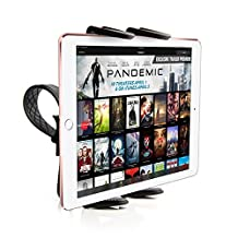 High Quality Zip-Grip Bicycle, Treadmill, Exercise Bike Handlebar Mount Holder for Apple iPad Mini Tablet (use with or without case protector)