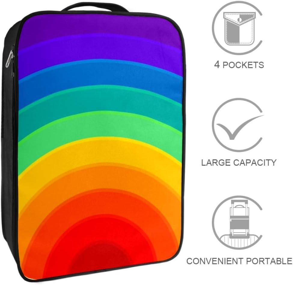 Nanmma Waterproof Shoe Bags Puches Storage Organizer-Double Layer,Rainbow Print