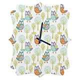 Deny Designs Wendy Kendall,  Woodland, Quatrefoil Clock, Medium