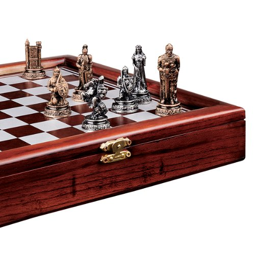 Medieval Chess Boards - Design Toscano The Knights Mortal Conflict Chess Set