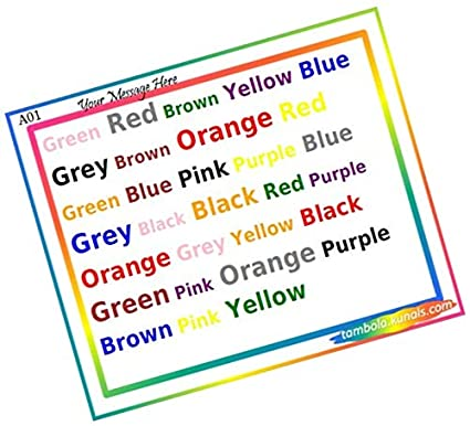 Party Stuff Color Theme Paper Games - Say Color kukuba 1 ...