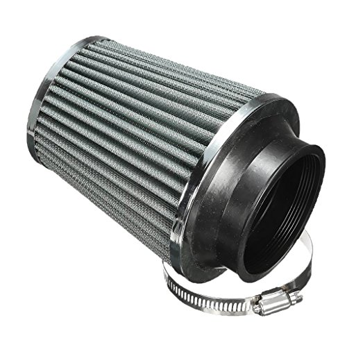 "Baoblaze Black Air Filter Aluminum Round Tapered Car Air Intake 3"" Washable Universal"