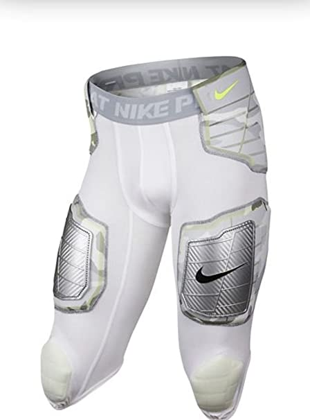 b2ad087ffa9 Amazon.com   Nike Pro Combat 3 4 Hyperstrong Compression Hard Plate Padded  White Camo Football Girdle Shorts Pants   Sports   Outdoors