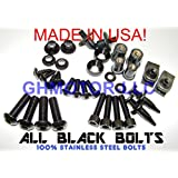 2003 2004 GSX-R GSXR 1000 Complete Fairings Bolts Screws Fasteners Kit Set Made in USA Black