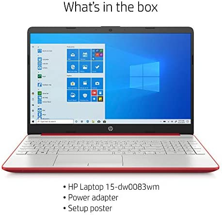 "2020 HP 15.6"" HD LED Display Laptop, Intel Pentium Gold 6405U Processor, 4GB DDR4 RAM, 128GB SSD, HDMI, Webcam, WI-FI, Windows 10 S, Scarlet Red"