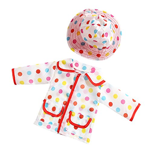 ainbow Dot Raincoat for 18 inch American Journey Girl My Life Doll (Trendy Dots)