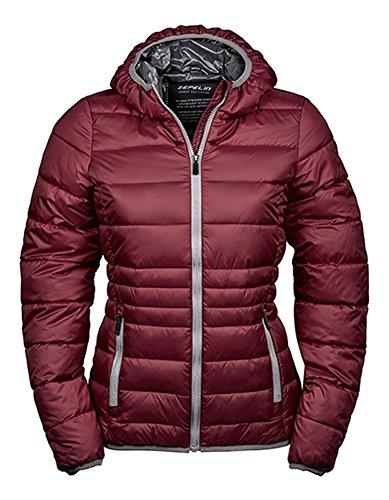 Ladies Hooded zepelin Jacket Raspberry-Grey