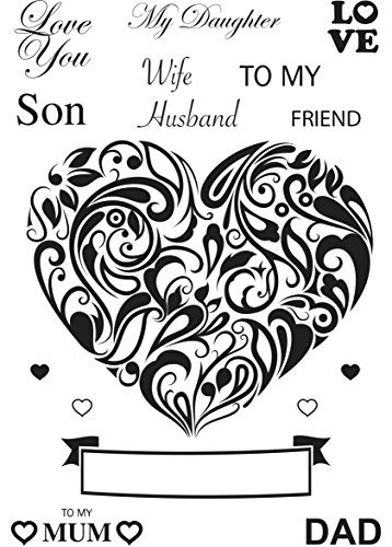 Dali Art A6 Clear Rubber Stamp - To My & Heart Swirl - Swirl Heart Rubber Stamp