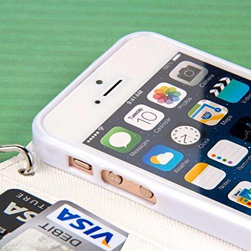MPERO FLEX FLIP Wallet Case Étui Coque for Apple iPhone 5 / 5S - Gray