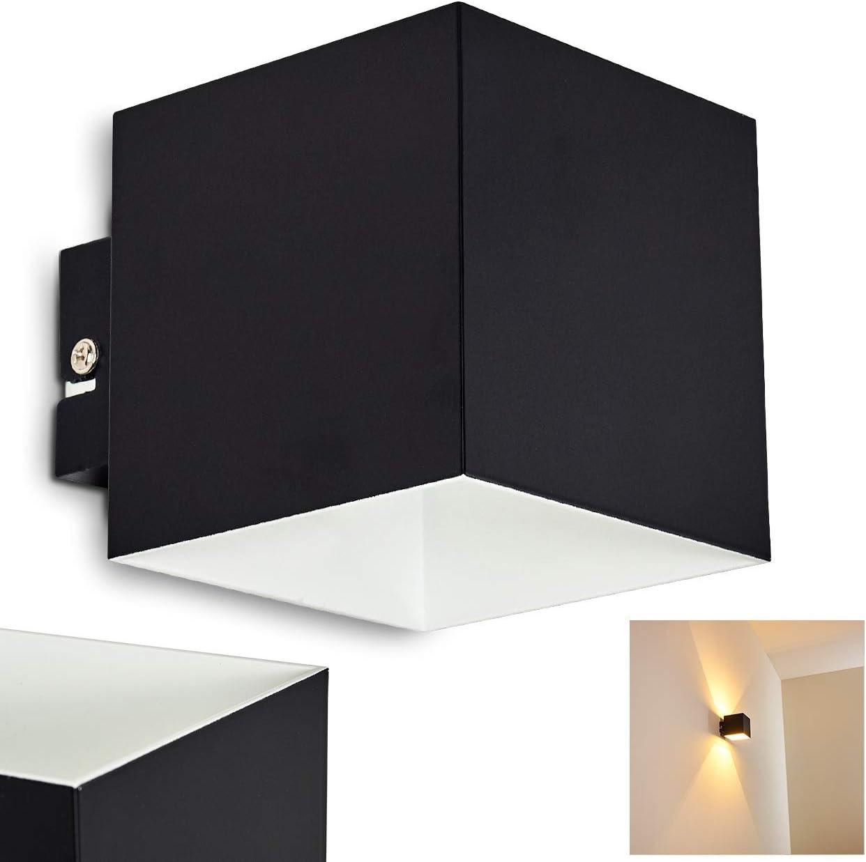 Cube//Innenwandleuchte mit Up /& Down-Effekt 28 Watt max geeignet f/ür LED Leuchtmittel 1 x G9-Fassung moderne Wandleuchte mit Lichteffekt Wandlampe Varco aus Metall in Schwarz//Gold mit Schlitzen