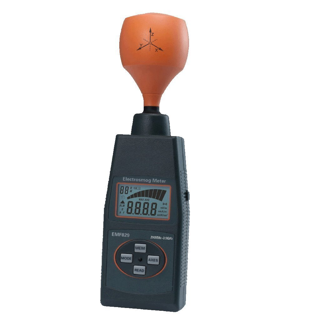 Portable EMF Tester Low Frequency Electromagnetic Filed Intensity Meter EMF828/EMF829 High Frequency Field Intensity Meter Indicator precise (Style : EMF829)
