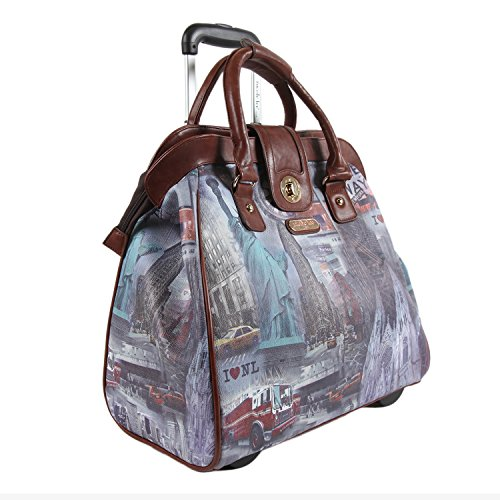 Nicole Lee Rolling Business Tote, New York, One Size by Nicole Lee
