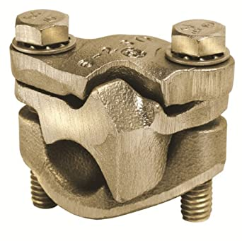 "Burndy QPX2828-Y Universal Versitap Parallel Clamp, 1/0 Str. - 4/0 Str. Aluminum/Copper Run, 1/0 Str. - 4/0 Str.Aluminum/ Copper Tap, 2-1/8"" Width, 2"" Length, 2"" Height, 250 lbs Recommended Tightening Torque"